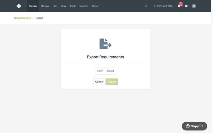 requirements-export-popup