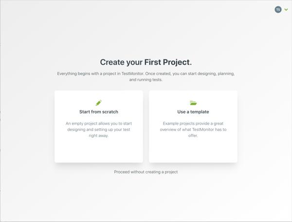 Eerste project aanmaken EN